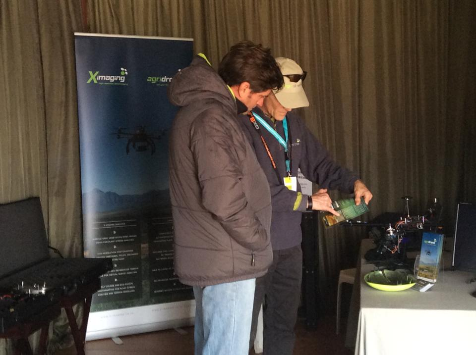 Exhibiting AgriDrone at an agricultural fair